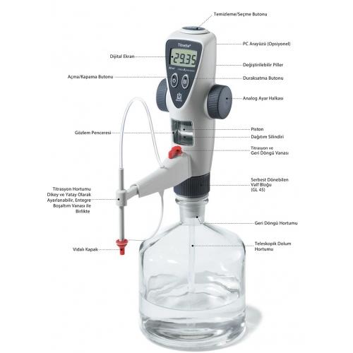 Elektronik Dijital  Büret 25 ml